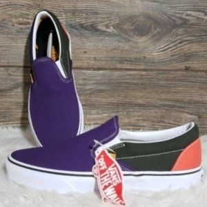 New Vans Classic Slip On Mix Match Color Sneakers